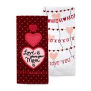 Celebrate Valentine's Day Together Mom Kitchen Towel 2-pack