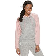 Juniors' Pink Republic Velour Zip Hoodie