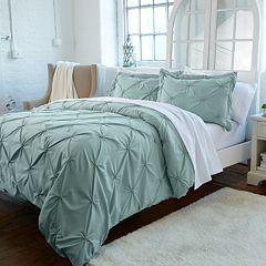 Great Bay Home Analia Pintuck Duvet Cover Set
