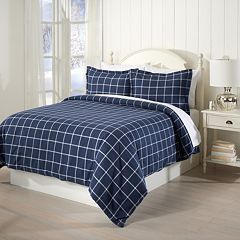 Great Bay Home Cotton Flannel Printed Duvet Cover