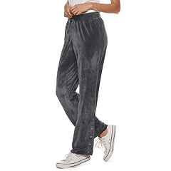 Juniors' Pink Republic Velour Dorm Pants