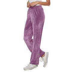 Juniors' Pink Republic Velour Dorm Pants