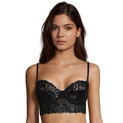 Maidenform Bras: Extra Sexy Embroidery & Lace Longline Balconette Bra DM1114