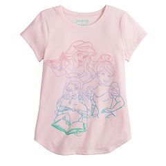 Disney's Belle, Cinderella & Ariel Girls 4-12 Glitter Graphic Tee by Jumping Beans®
