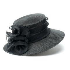Women's Scala Flower Accent Floppy Derby Hat