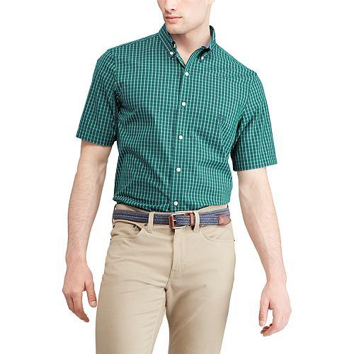 Men's Chaps Regular-Fit Plaid Button-Down Shirt