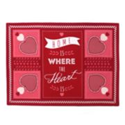 Celebrate Valentine's Day Together Home Quilted Placemat