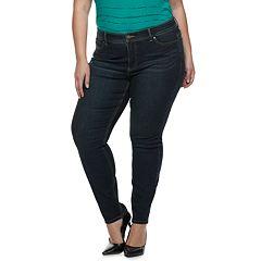 Plus Size Apt. 9® Tummy Control Lycra Beauty MidRise Skinny Jeans