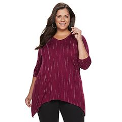 Plus Size Apt. 9® Shark-Bite Hem Tunic