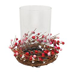 Celebrate Valentine's Day Together Rustic Hurricane Candle Holder
