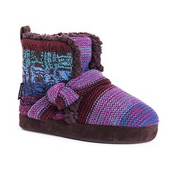 Women's MUK LUKS Wendy Knotted Bootie Slippers