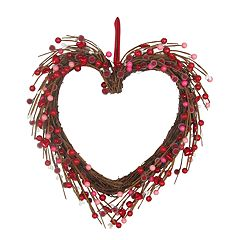Celebrate Valentine's Day Together Artificial Berry Heart Wreath