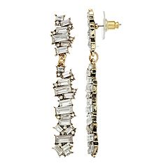 TREND Simulated Crystal Linear Drop Earrings
