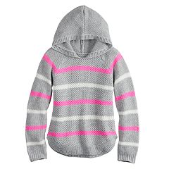 Girls 7-16 & Plus Size Cloud Chaser Printed Hooded Sweater