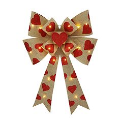 Celebrate Valentine's Day Together Light-Up Heart Bow Wall Decor