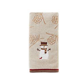 Saturday Knight, Ltd. 2-pack Woodcut Snowman Hand Towel Set