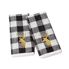 Saturday Knight, Ltd. 2-pack Gold Stag Hand Towel Set