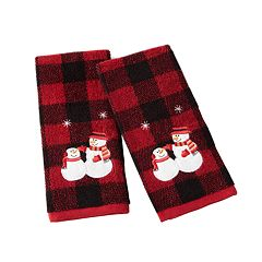 Saturday Knight, Ltd. 2-pack Plaid Snowmen Hand Towel