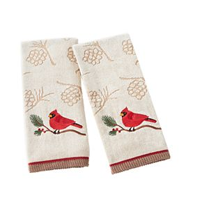Saturday Knight, Ltd. 2-pack Cardinal Hand Towel Set