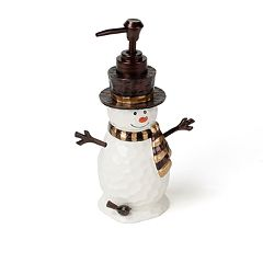 Saturday Knight, Ltd. Woodcut Snowman Soap Pump