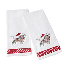 Saturday Knight, Ltd. 2-pack Christmas Kitten Hand Towel Set