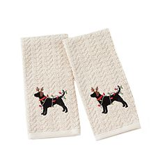 Saturday Knight, Ltd. 2-pack Reindeer Dog Hand Towel Set