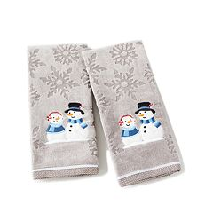 Saturday Knight, Ltd. 2-pack Peppermint Couple Hand Towel Set