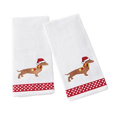 Saturday Knight, Ltd. 2-pack Holiday Hound Hand Towel Set