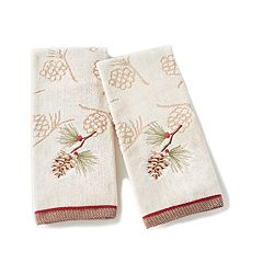 Saturday Knight, Ltd. 2-pack Snowy Pinecone Hand Towel Set