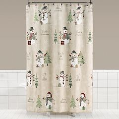 Saturday Knight, Ltd. Scenic Snowman Shower Curtain