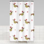 Saturday Knight, Ltd. Dachshund Christmas Shower Curtain