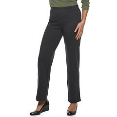 Women's Croft & Barrow®Pull-On Fleece Straight-Leg Pants