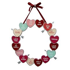 Celebrate Valentine's Day Together Candy Heart Wreath