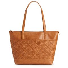 ili Woven Leather Tote