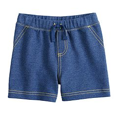 Baby Boy Jumping Beans® Knit Denim Shorts