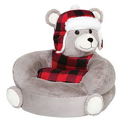 Trend Lab Bear in Hat Plush Character Chair