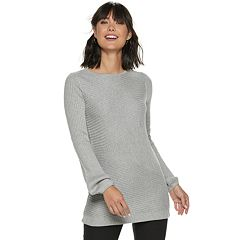 331849c1d9 Women s Apt. 9® Ribbed Balloon Sleeve Tunic. Dexter Blue Mineral Black  Mauve Dark Gray Heather