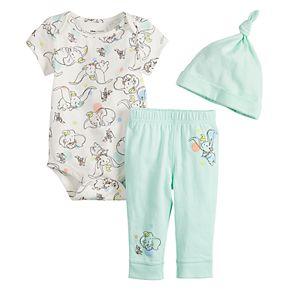 Disney's Dumbo Baby Girl Bodysuit, Pants & Hat Set by Jumping Beans®