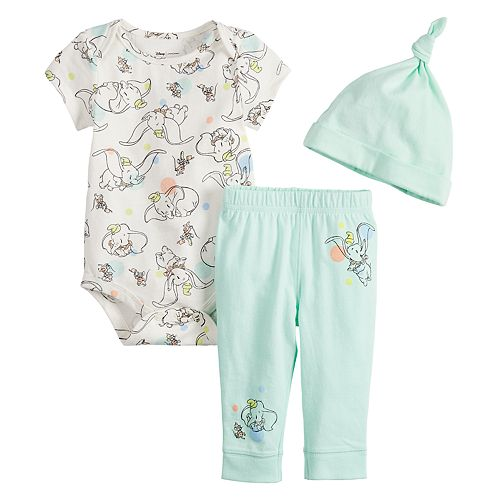 Disney's Dumbo Baby Girl Bodysuit, Pants & Hat Set by Jumping Beans®