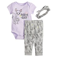 Disney's Bambi Baby Girl Bodysuit, Leggings & Headband Set by Jumping Beans®