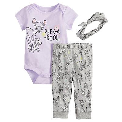 Disney's Bambi Baby Girl Bodysuit, Leggings & Headband Set by Jumping Beans®