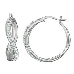 Chrystina Crystal Infinity Hoop Earrings