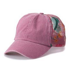 Women s Mudd® Floral Mesh Back Baseball Cap e4f191d04132