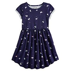 Girls 4-12 Jumping Beans® Printed Shirttail-Hem Dress 65f484ffb551