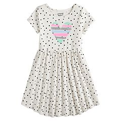 Girls 4-12 Jumping Beans® Printed Shirttail-Hem Dress