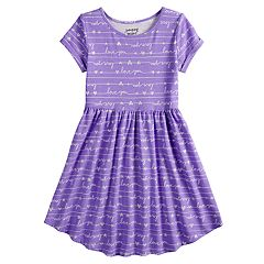 Girls 4-12 Jumping Beans® Printed Shirttail-Hem Dress a37aa0288