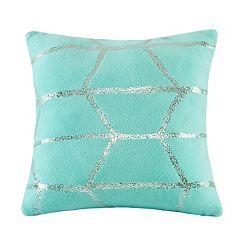 Intelligent Design Khloe Metallic Print Throw Pillow