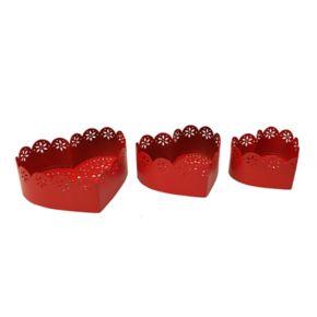 Celebrate Valentine's Day Together Decorative Heart Bowl 3-piece Set