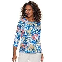Women's Cathy Daniels Embellished Floral Print Top