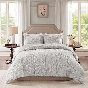 Madison Park Nova Faux Mohair & Faux Mink Comforter Set